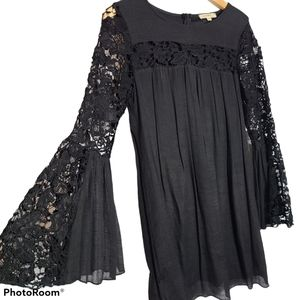 Rebellion Dress  with lace top/sleeves